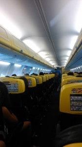 Ryanair interiér