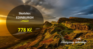 Akční letenky do EDINBURGHU z Prahy