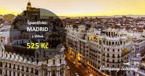 Levně do MADRIDU na konci léta