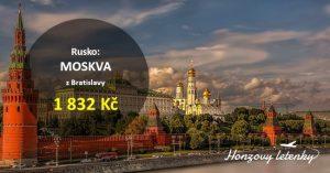 Nejlevnější letenky do MOSKVY