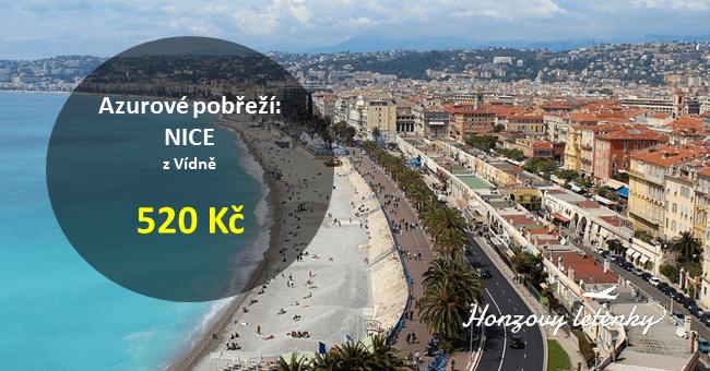 Nejlevnější letenky do NICE – Azurové pobřeží