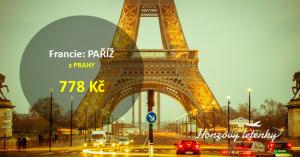 Víkendové letenky do PAŘÍŽE ve skupině