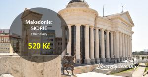 Letenky do Makedonie – Skopje za pětikilo