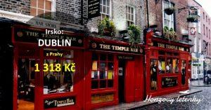 Výhodné letenky z Prahy do DUBLINU