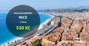 Nejlevnější letenky do NICE na Azurovém pobřeží