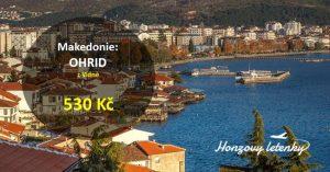 Jarní letenky k Ohridskému jezeru