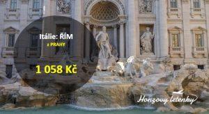 Letní letenky do ŘÍMA