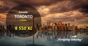 Levné letenky do kanadského TORONTA