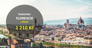 Přímé letenky z Prahy do FLORENCIE