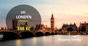 Letenky do LONDÝNA z Pardubic