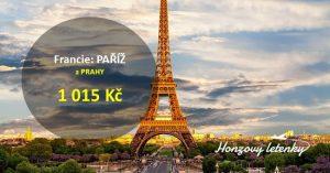 Víkendové letní letenky do PAŘÍŽE