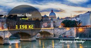 Letenky z Prahy do ŘÍMA