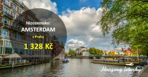 Letenky do AMSTERDAMU s předstihem