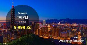 Akční letenky na TAIWAN