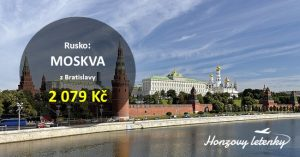 Levné letenky do MOSKVY