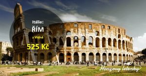 Nejlevnější letenky do ŘÍMA