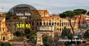 Akční letenky do Říma