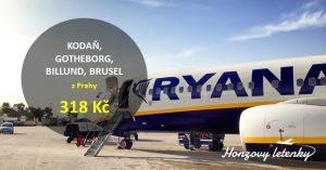 Výprodej u Ryanair – letenky z Prahy za 300 Kč