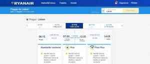Ryanair – lety s přestupem