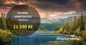 Přímé letenky na západ Kanady