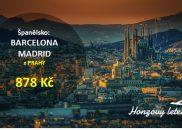 BARCELONA i MADRID za akční cenu z Prahy