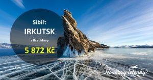 Letenky do sibiřského IRKUTSKU k Bajkalu