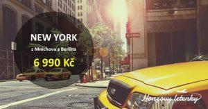 Levné letenky na přímé lety do NEW YORKU