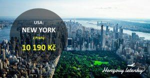 Prázdninové letenky z Prahy do NEW YORKU