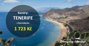 Přímé lety na TENERIFE i s odbaveným zavazadlem