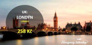 Akce na letenky do LONDÝNA