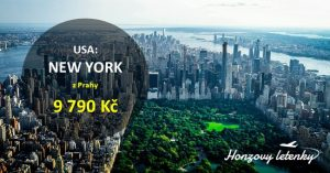 Přímé lety do NEW YORKU na konec léta