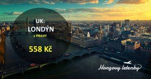 Z Prahy levně do LONDÝNA