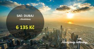 Přímé letenky do DUBAJE