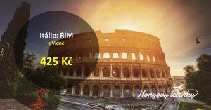 Letenky do ŘÍMA za pár stovek